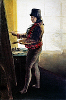 0034477 © Granger - Historical Picture ArchiveFRANCISCO GOYA (1746-1828).   Spanish painter, etcher, and lithographer. Self-portrait of Goya in his studio. Oil on canvas, c1790-95.