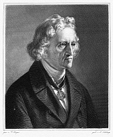 0012855 © Granger - Historical Picture ArchiveJACOB GRIMM (1785-1863).   German philologist and folklorist. Steel engraving after a painting by Karl Begas.