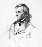 0015456 © Granger - Historical Picture ArchiveWILHELM GRIMM (1786-1859).   German philologist and folklorist. Drawing by Franz Krüger (1797-1857).