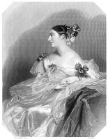 0066784 © Granger - Historical Picture ArchiveCOUNTESS TERESA GUICCIOLI   (1801?-1873). Italian noblewoman and mistress of George Gordon Byron, Lord Byron. Steel engraving after Alfred Edward Chalon (1780-1860).
