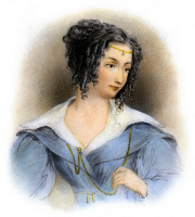 0069858 © Granger - Historical Picture ArchiveCOUNTESS TERESA GUICCIOLI   (1800-1873). Italian noblewoman and mistress of George Gordon Byron, Lord Byron. Stipple engraving, 1833, after a drawing, 1833, by William Brockedon.