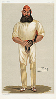 0267404 © Granger - Historical Picture ArchiveWILLIAM GILBERT GRACE   (1848-1915). English cricketer. Caricature lithograph, 1877, by 'Spy' (Sir Leslie Ward).