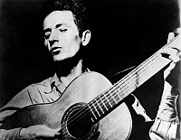 0168634 © Granger - Historical Picture ArchiveWOODY GUTHRIE (1912-1967).   American folk singer. Undated photograph.