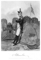 0037538 © Granger - Historical Picture ArchiveALEXANDER HAMILTON   (1755-1804). American lawyer and statesman. Hamilton at Yorktown in 1781. Steel engraving, 1858, after a painting by Alonzo Chappel.