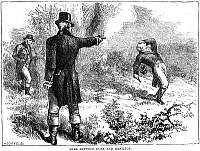 0037544 © Granger - Historical Picture ArchiveHAMILTON- BURR DUEL, 1804.   An artist's reconstruction of the duel fought between Alexander Hamilton and Aaron Burr at Weehawken, New Jersey, on 11 July 1894.