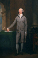 0526735 © Granger - Historical Picture ArchiveALEXANDER HAMILTON   (1755-1804). American politician. Painting by John Trumbull, 1792.