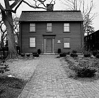 0174249 © Granger - Historical Picture ArchiveHAWTHORNE: BIRTHPLACE.   The house at Salem, Massachusetts, in which Nathaniel Hawthorne was born on 4 July 1804. Photograph, mid 20th century.