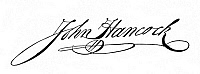 0031288 © Granger - Historical Picture ArchiveJOHN HANCOCK (1737-1793).   American merchant and Revolutionary statesman. Autograph signature.
