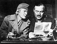 0027475 © Granger - Historical Picture ArchiveERNEST HEMINGWAY   (1899-1961). American writer, and Janet Flanner (1892-1978), American journalist. Photographed at Paris in 1945.