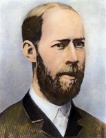 0046526 © Granger - Historical Picture ArchiveHEINRICH HERTZ (1857-1894).  German physicist. Oil over a photograph.