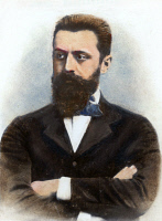 0048882 © Granger - Historical Picture ArchiveTHEODOR HERZL (1860-1904).   Hungarian Zionist leader. Oil over a photograph, n.d.