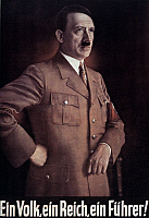 0022212 © Granger - Historical Picture ArchiveADOLF HITLER (1889-1945).   Chancellor of Germany, 1933-1945. On an official German poster, 1938.