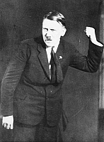 0036353 © Granger - Historical Picture ArchiveADOLF HITLER (1889-1945).   Chancellor of Germany, 1933-45. Photographed while practicing gestures to the accompaniment of a recording of his speeches following his release from Landsberg prison in 1925.