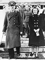 0036354 © Granger - Historical Picture ArchiveADOLF HITLER (1889-1945).   Chancellor of Germany, 1933-45. With his mistress, Eva Braun.