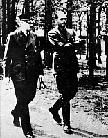 0068906 © Granger - Historical Picture ArchiveADOLF HITLER (1889-1945).   Chancellor of Germany, 1933-45. Adolf Hitler (left) and Albert Speer at Hitler's headquarters in Ukraine, Summer 1942.