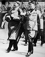 0173502 © Granger - Historical Picture ArchiveHITLER AND MUSSOLINI, 1934.   German Chancellor Adolf Hitler (left) and Italian Prime Minister Benito Mussolini, during a trip to Venice. Photograph, 1934.