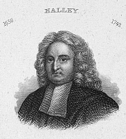 0101984 © Granger - Historical Picture ArchiveEDMUND HALLEY (1656-1742).  English astronomer. Line engraving, 19th century.