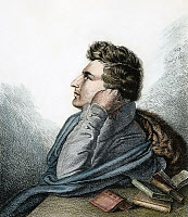 0008710 © Granger - Historical Picture ArchiveHEINRICH HEINE (1797-1856).   German poet and critic. Etching, 1827, by Ludwig Emil Grimm (brother of the folklorists).