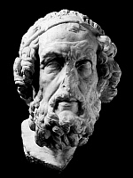 0118783 © Granger - Historical Picture ArchiveHOMER (9th-8th CENTURY BC).   Greek poet. Hellenistic Greek marble bust, c100 B.C.-50 A.D.