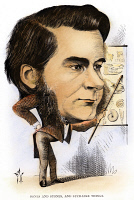0121528 © Granger - Historical Picture ArchiveTHOMAS H. HUXLEY (1825-1895).   English biologist. 'Bones and Stones and Such-like Things.' Caricature, 1872, by Frederick Waddy.