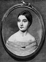 0049053 © Granger - Historical Picture ArchiveJESSIE ANN FREMONT   (1824-1902). Nee Benton. American writer and wife of John Charles Fremont. Wood engraving, 19th century, after a miniature on ivory by Dodge.