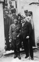 0526715 © Granger - Historical Picture ArchiveISMET INÖNÜ (1884-1973).   Also known as Ismet Pasha. Turkish politician, President of Turkey, 1938-1950. Photographed with French politician Henry Franklin-Bouillon, possibly at the peace conference at Lausanne, Switzerland in 1923.