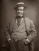 0325363 © Granger - Historical Picture ArchiveDAVID JAMES (1839-1893).   Né Belasco. English actor. Photographed in the role of Perkyn Middlewick from Henry James Byron's play, 'Our Boys,' 1875.