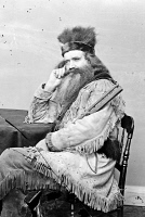 0527345 © Granger - Historical Picture ArchiveSETH KINMAN (1815-1888).   American hunter and entertainer. Photograph, c1860.
