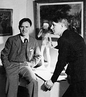 0037743 © Granger - Historical Picture ArchiveISHERWOOD AND AUDEN.  Christopher Isherwood (1904-1986), English writer, and W.H. Auden (1907-1973), English poet.