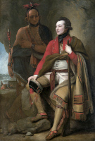 0027581 © Granger - Historical Picture ArchiveGUY JOHNSON (c1740-1788).   American (Irish-born) military officer and diplomat. With the Mohawk chief Karonghyontye (a.k.a. Captain David Hill). Oil on canvas, 1776, by Benjamin West.