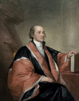 0052419 © Granger - Historical Picture ArchiveJOHN JAY (1745-1829).   American jurist and statesman. Oil on canvas, 1794, by Gilbert Stuart.