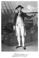 0069196 © Granger - Historical Picture ArchiveJOHN PAUL JONES (1747-1792).   American (Scottish-born) naval commander. Steel engraving, American, 1861, after a painting by Alonzo Chappel.