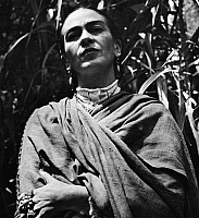 0033462 © Granger - Historical Picture ArchiveFRIDA KAHLO (1907-1954).   Mexican painter. Photographed, 1952, by Gisele Freund.