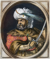 0077702 © Granger - Historical Picture ArchiveKARA MUSTAFA d. 1683.   Grand vizier of Turkey (1676-83). Contemporary engraving.