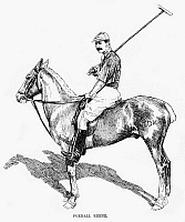 0265813 © Granger - Historical Picture ArchiveFOXHALL KEENE (1867-1941).   American polo player. Engraving, 1891.