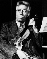 0168717 © Granger - Historical Picture ArchiveFRITZ KREISLER (1875-1962).   American (Austrian born) violinist and composer. Photograph, 1945.