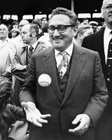 0526709 © Granger - Historical Picture ArchiveHENRY KISSINGER (1923- ).   German-born American diplomat. Photographed at Fenway Park in Boston, Massachusetts during the 1975 World Series.