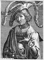 0093305 © Granger - Historical Picture ArchiveLUCAS van LEYDEN   (c1494-1533). Dutch painter and engraver. Copper engraving, French, by Nicolas Larmessin (1640-1725).