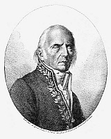 0069468 © Granger - Historical Picture ArchiveCHEVALIER DE LAMARCK   (1744-1829). Jean Baptiste Lamarck. French naturalist. 'Portrait of Lamarck, when old and blind, in the costume of a member of the Institute, engraved in 1824.' Reproduction of an engraving by Ambroise Tardieu.