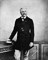 0176285 © Granger - Historical Picture ArchiveLESSEPS (1805-1894).   Vicomte Ferdinand Marie de Lesseps. French diplomat and developer of the Suez and Panama Canals.