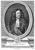0027341 © Granger - Historical Picture ArchiveJEAN de LA FONTAINE   (1621-1695). French fabulist. Copper engraving, French, 1777.