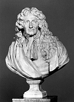 0114043 © Granger - Historical Picture ArchiveJEAN DE LA FONTAINE   (1621-1695). French fabulist. Marble bust by Jean-Antoine Houdon, c1783.