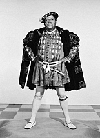 0047917 © Granger - Historical Picture ArchiveCHARLES LAUGHTON   (1899-1962). American (English-born) actor. As Henry VIII in 'Young Bess,' 1953.