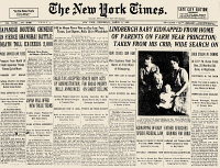 0051801 © Granger - Historical Picture ArchiveCHARLES A. LINDBERGH   (1902-1974). American aviator. Front page of the New York Times, 2 March 1932, featuring an article about the kidnapping of the Lindbergh baby.