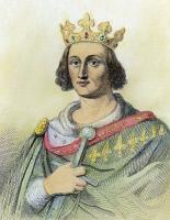 0088742 © Granger - Historical Picture ArchiveLOUIS IX (1214-1270).   Saint Louis. King of France, 1226-1270. Line engraving, 1838, after Auguste de Creuse.