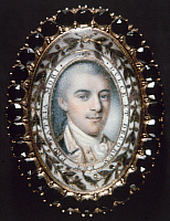 0113816 © Granger - Historical Picture ArchiveJOHN LAURENS (1754-1782).   American Revolutionary officer. Miniature painting, 18th century.