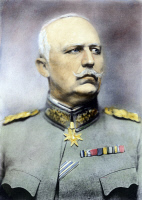 0079255 © Granger - Historical Picture ArchiveERICH F.W. LUDENDORFF   (1865-1937). German general and politician. Oil over a photograph, c1917.
