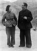 0621558 © Granger - Historical Picture ArchiveMAO TSE-TUNG (1893-1976).  Chinese Communist leader. With his wife, Qing Jiang. Photograph, 1945.