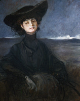 0323645 © Granger - Historical Picture ArchiveANNA DE NOAILLES (1876-1933).  French author. Oil on canvas, c1905, by Jean-Louis Forain.