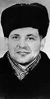 0169696 © Granger - Historical Picture ArchiveFRANCIS GARY POWERS   (1929-1977). American spy plane pilot who was shot down by Soviet forces and captured in 1960. He was released in exchange for captured Soviet spy, Rudolph Abel in 1962.